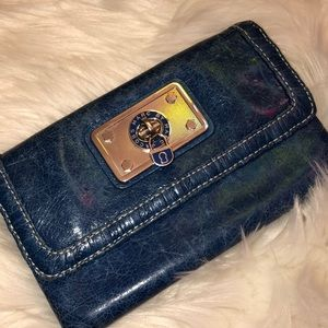 Marc by Marc Jacobs Distressed Leather Wallet GC